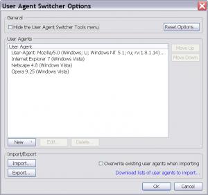 Как скачать с народ ру без капчи? user agent switcher options